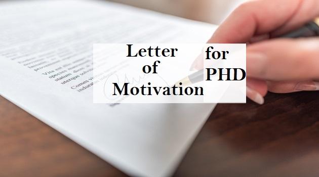 letter of motivation for phd