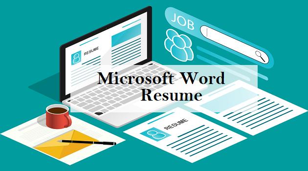 microsoft word resume