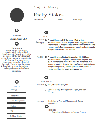 Best Project Manager Resume With Some Eye Catching Examples
