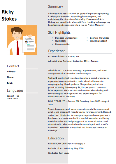 administrative assistant resume examples