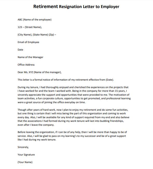 Employee Leaving Announcement Letter Samples from www.lettertemplatesformat.com