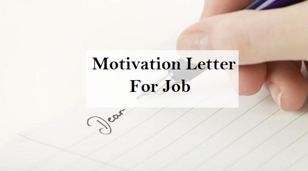 motivation letter for job