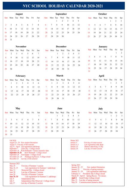 new york holidays 2020