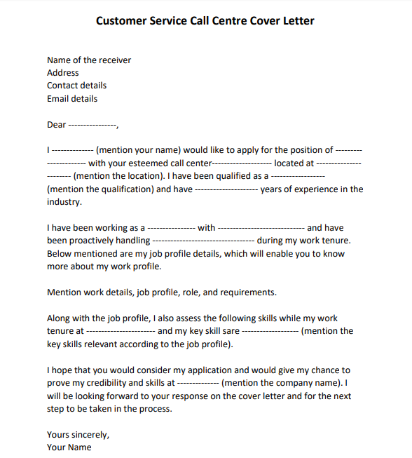 Cover Letter Without Knowing The Receiver from www.lettertemplatesformat.com