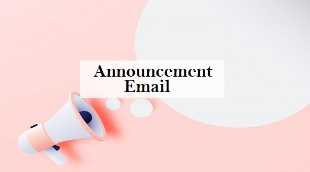 announcement email