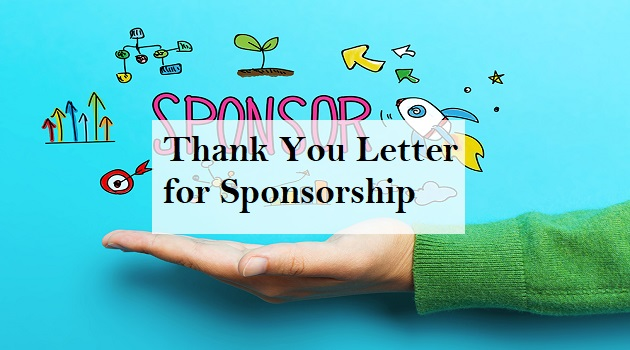 thank you letter for sponsorship