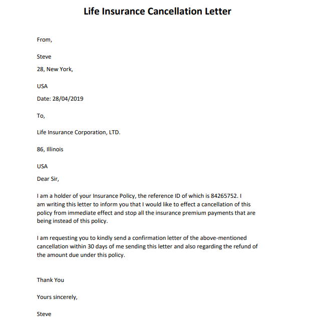 Powerful Insurance Cancellation Letter Samples and Format