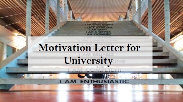 motivation letter for university