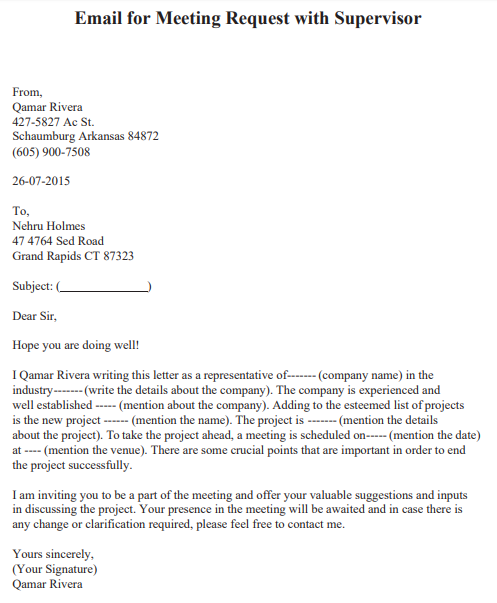 one on one meeting request email sample
