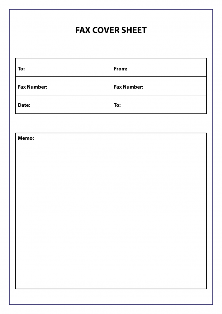 blank fax cover sheet