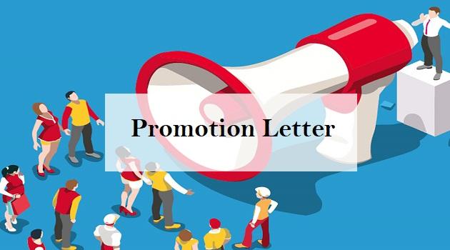 promotion letter