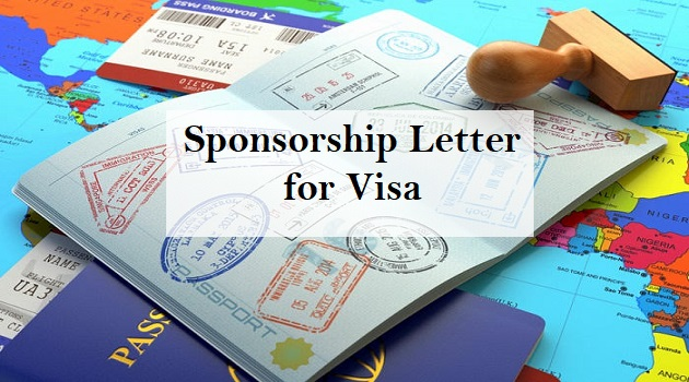 sponsorship letter for visa