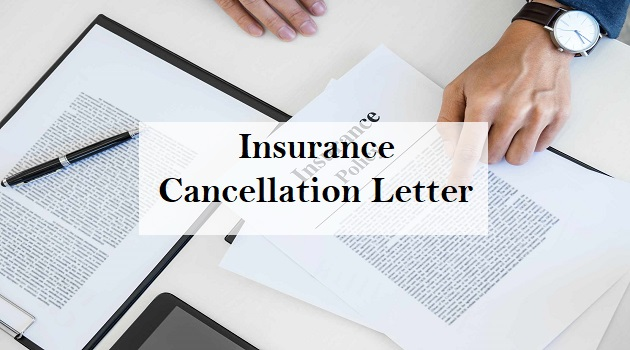 insurance cancellation letter